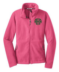 Monogram GREEK Fleece Full Zip Jacket - From Me 2 You Creations