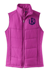 Monogram GREEK Quilted Vest - From Me 2 You Creations