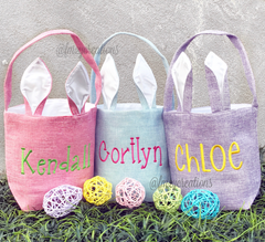 Monogram Easter Basket | Bunny Ears - From Me 2 You Creations