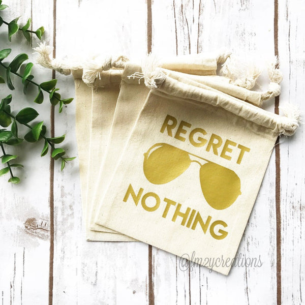 Regret Nothing Gold Hangover Kit Bag