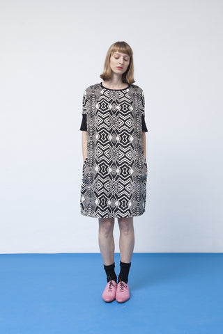 Printed sac dress