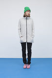 Melange Gray jacket with zipper for women