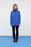 Royal blue jacket with zipper for women