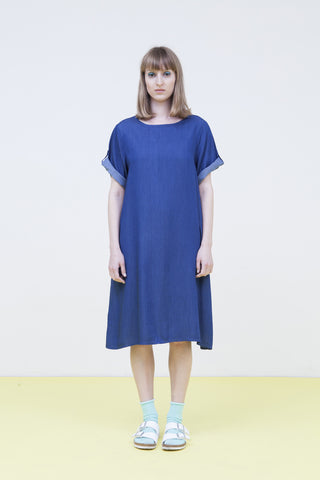 denim oversize dress