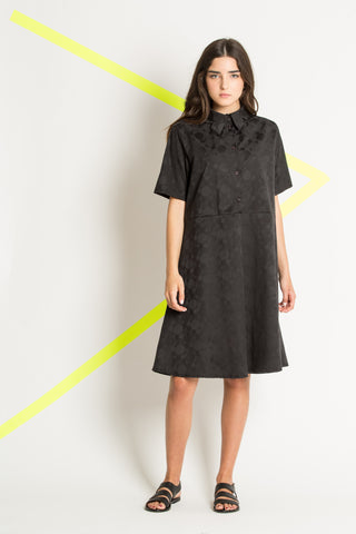 Black spring button down dress