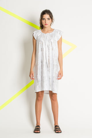 Silver knitted cotton dress