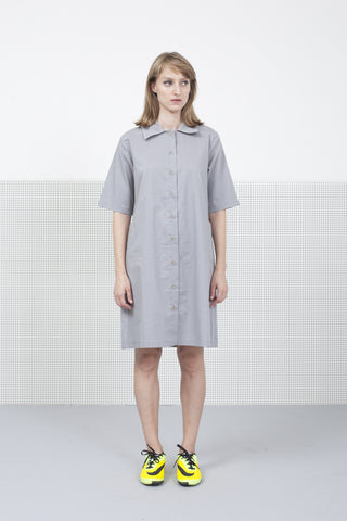 Gray Button down Dress
