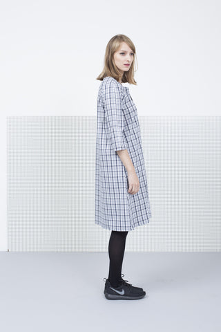 Gray Plaid Dress with pockets