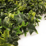 Artificial Mixed Foliage Greenery Hedge