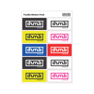 Dumb® Vanilla Sticker Pack