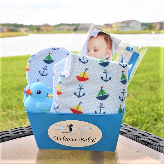 ... Personalized Baby Gift Basket for a Baby Boy ... & Personalized Baby Gift Basket for a Baby Boy - Cuzy Inc.
