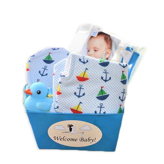 Personalized baby gift basket for a baby boy cuzy inc personalized baby gift basket for a baby boy burp cloth bibs set baby negle Images