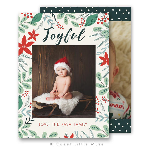 Hand Illustrated Christmas Card Template
