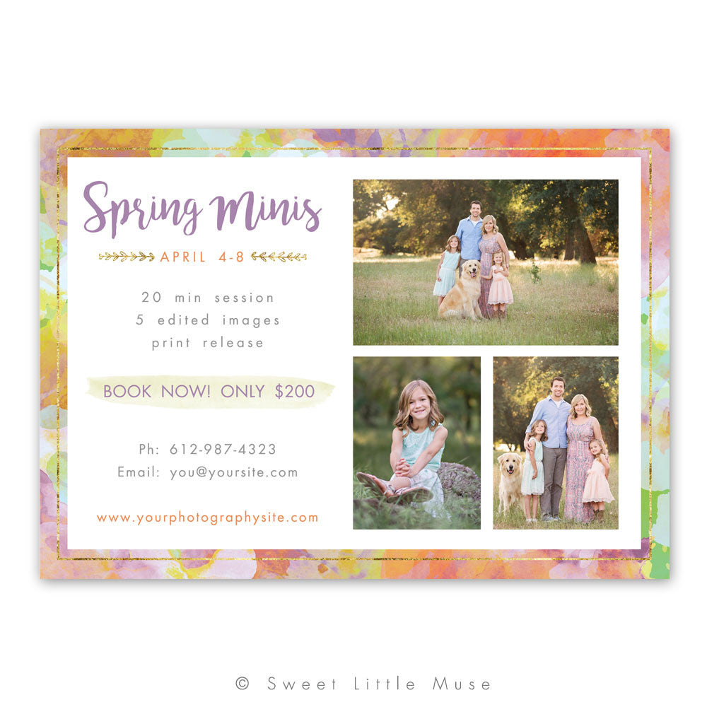 Spring Mini Session Template - Boho Design