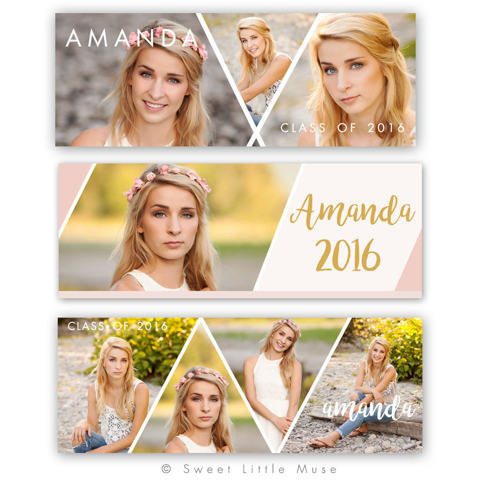 Clean Senior Grad Facebook Timeline Bundle
