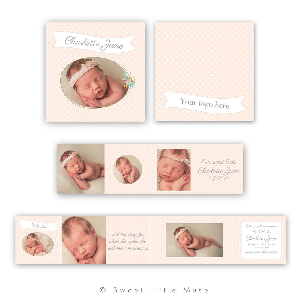 Girls 3x3 Mini Accordian Marketing Template