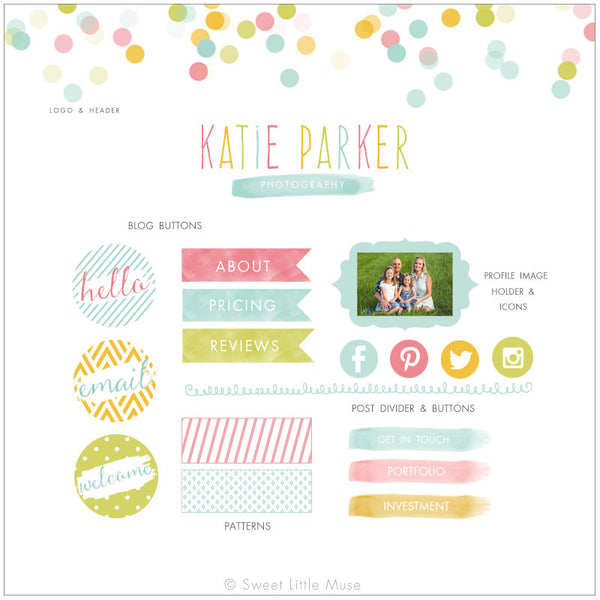 Colorful Blog Kit & Logo