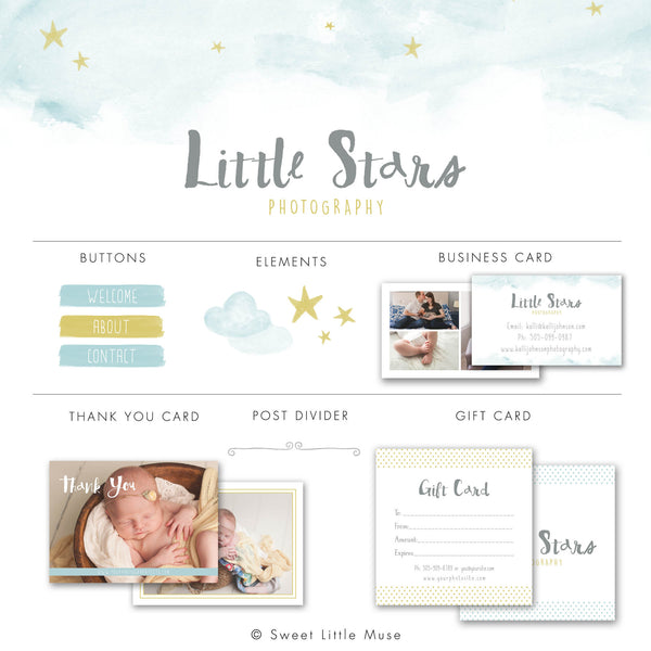 Whimsical Stars Blog Kit & Logo