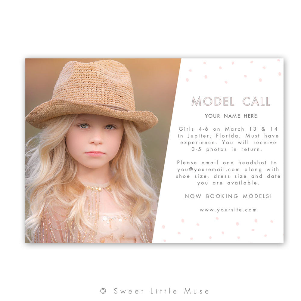 Model Call Marketing Mini Session Template