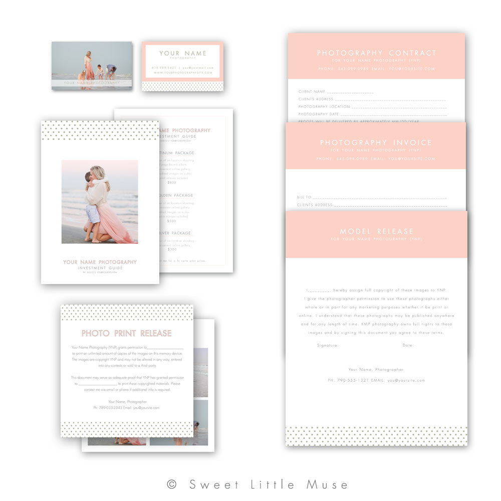 Polka Dot Business Forms