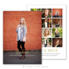 Gold Senior Graduation Announcement Template