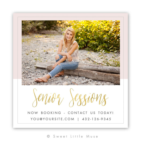 Chic Senior Marketing Mini Session Template