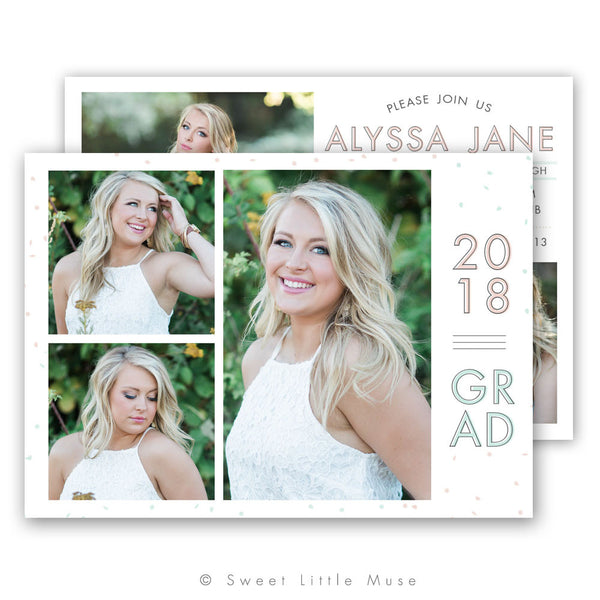 Senior Graduation Announcement Template