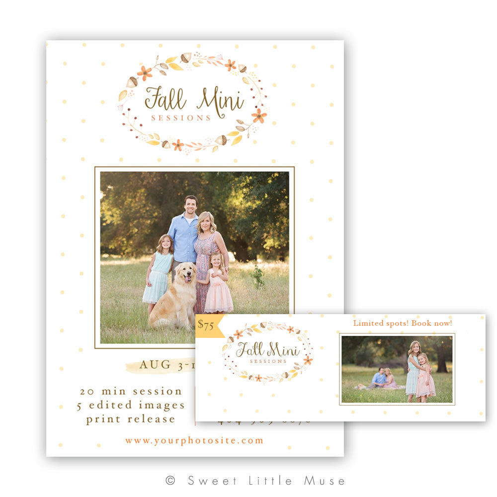 Fall Mini Session Template Plus Bonus Timeline