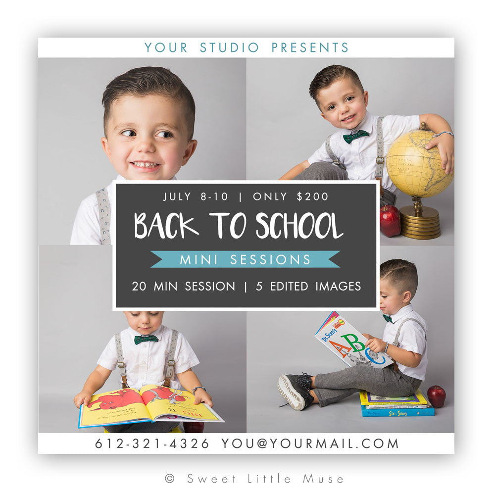 Back to School Mini Session Template