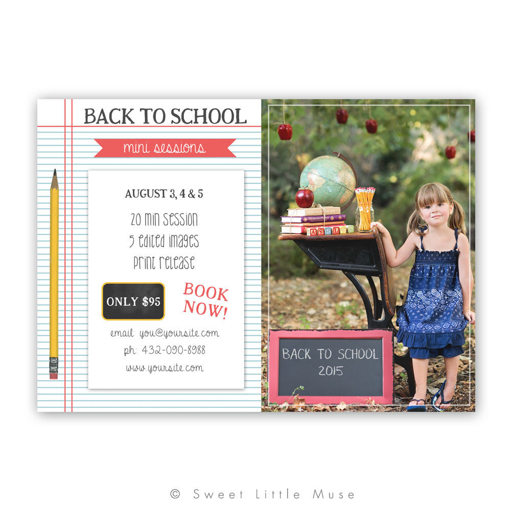 Mini Session Template - Back to School