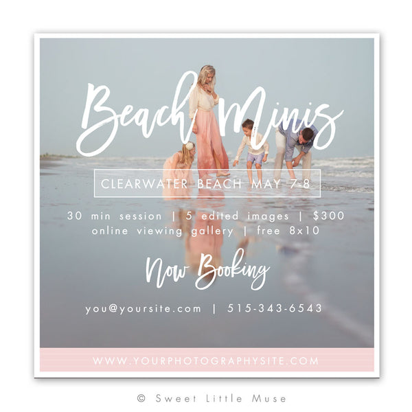 Beach Mini Session Template 5x5