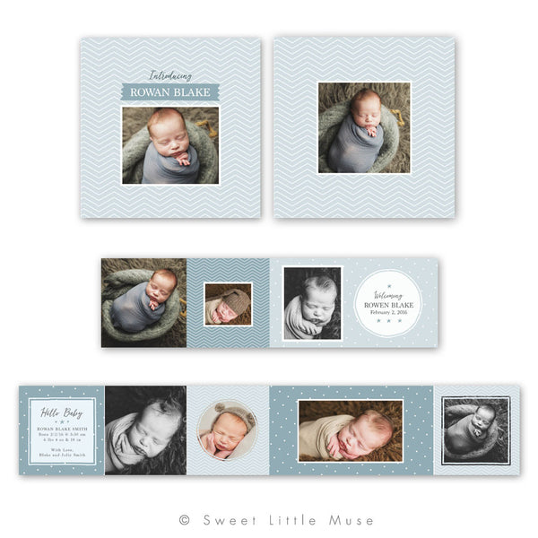 Boys 3x3 Mini Accordian Marketing Template