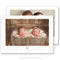 Boy Girl Twins Birth Announcement Template