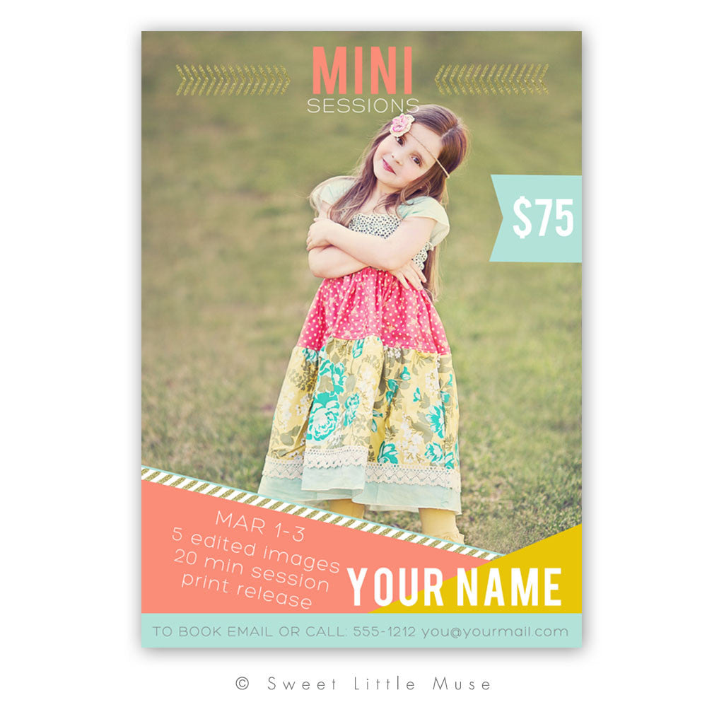 Mini Session Template with Bonus Free Timeline