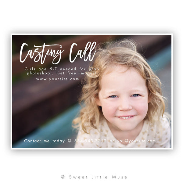 Casting Call Mini Session Template