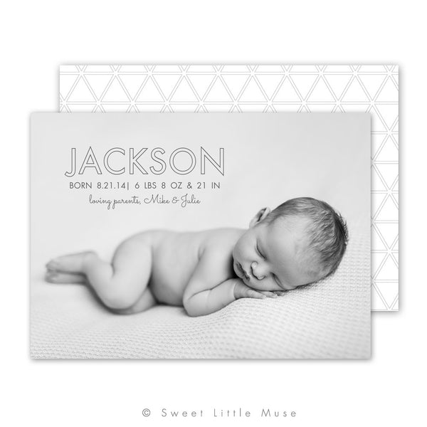 Crisp Modern Birth Announcement Template