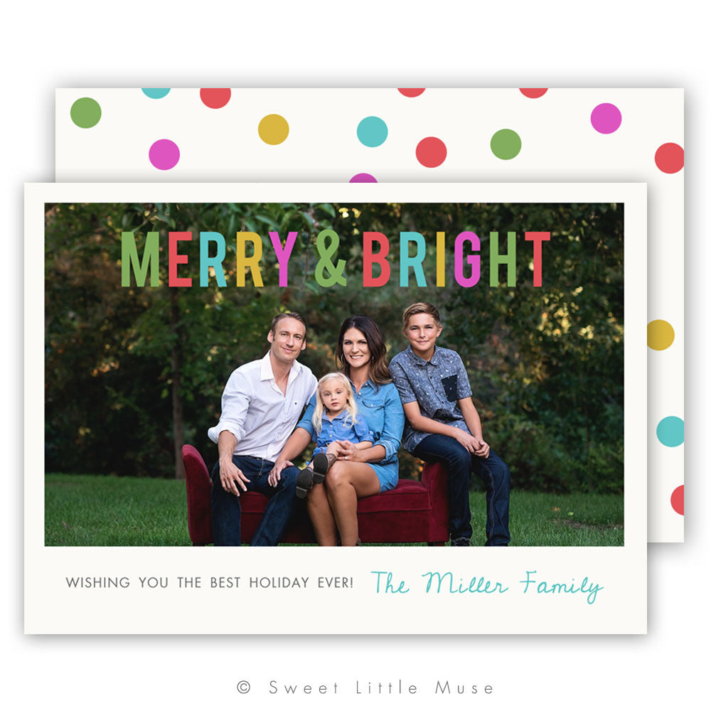 Dots Christmas Card Template