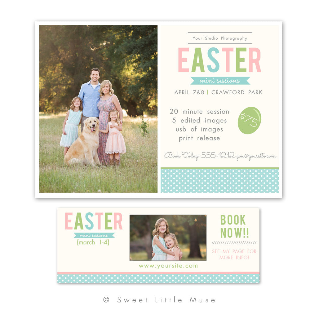 Easter Mini Session Template Plus Bonus Timeline