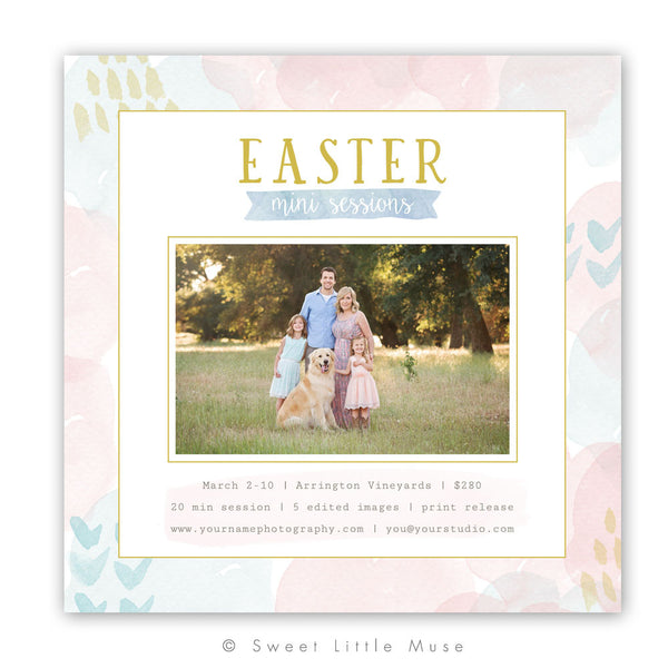 Easter Mini Session Template - Watercolor