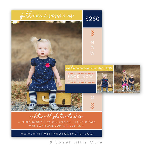 Fall Mini Session Colorblock Template