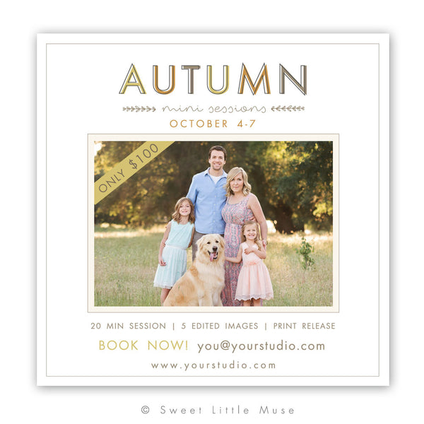 Fall Mini Session Template 5x5