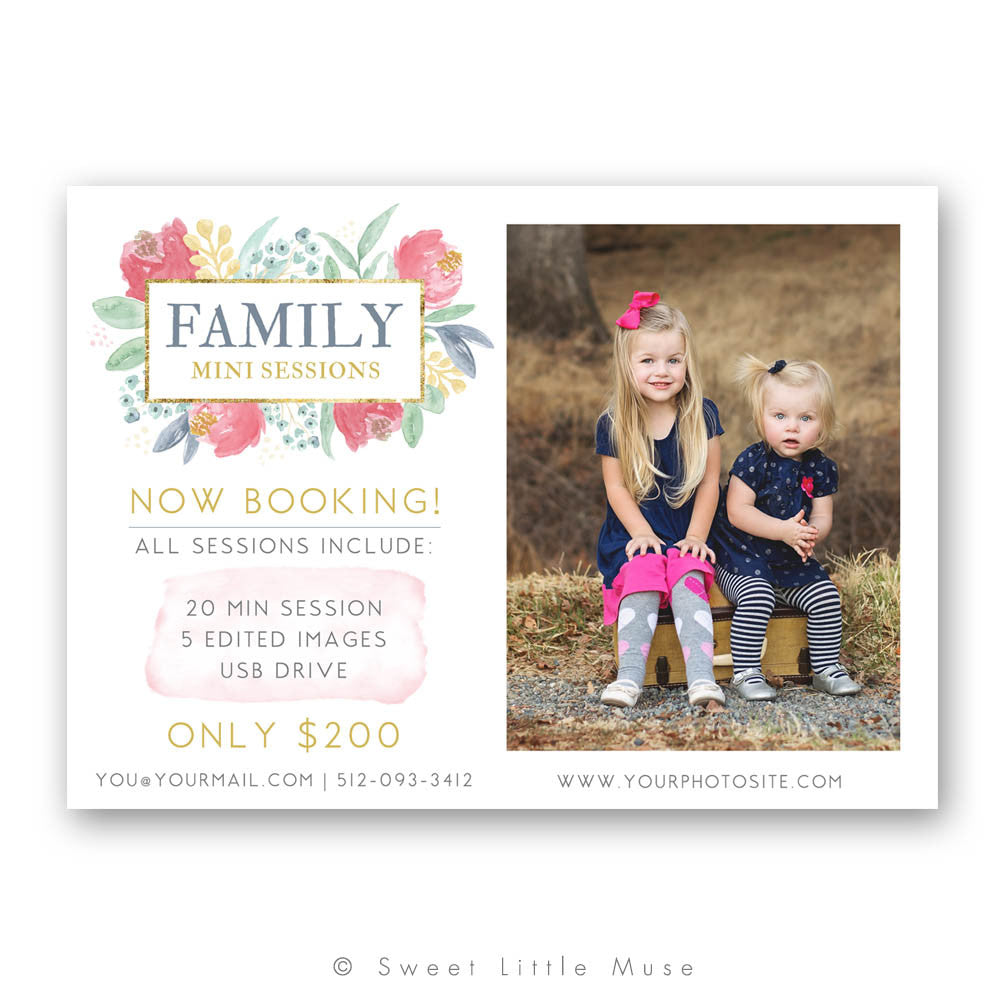 Hand Painted Mini Session Template