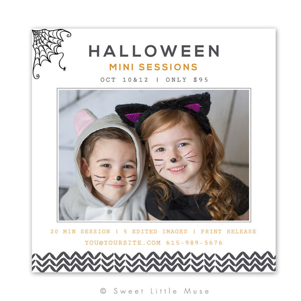 Halloween Mini Session Template 5x5