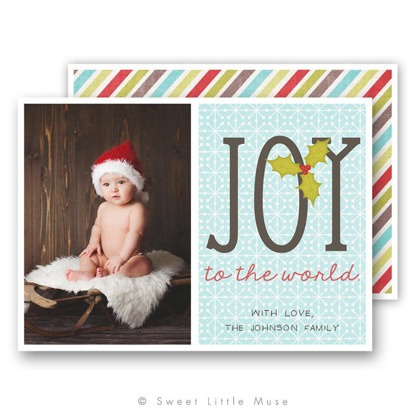 Joy Christmas Card Template