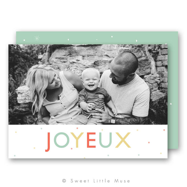 Joyeux Christmas Card Template