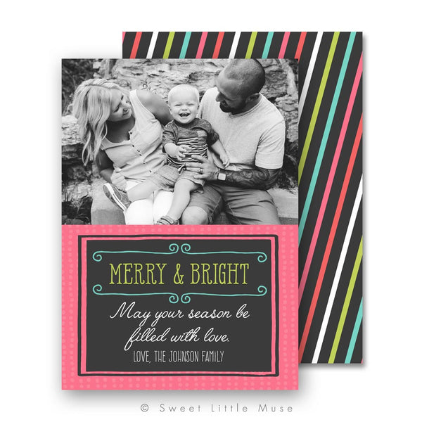 Merry & Bright Christmas Card Template