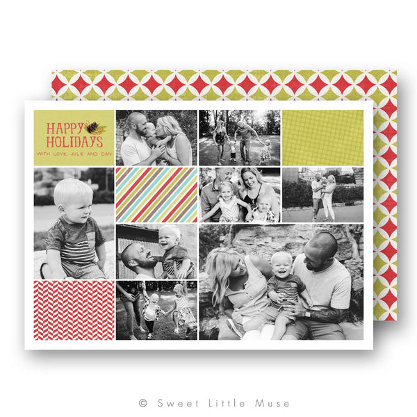 Multi-Image Christmas Card Template