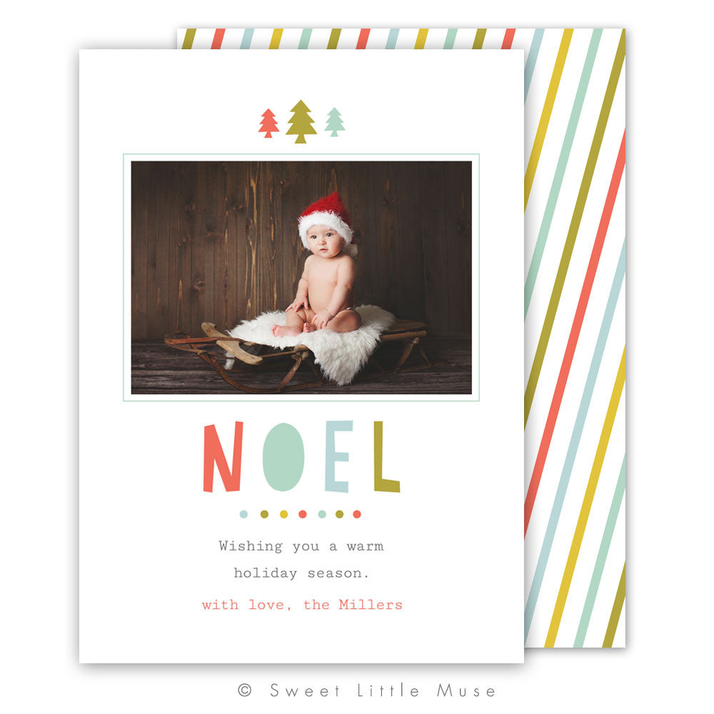 Noel Christmas Card Template