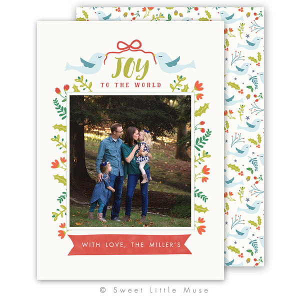Partridge Christmas Card Template