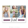 Modern Senior Graduation Announcement Template